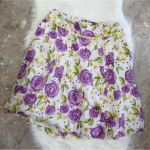 Speechless Junior Sz 9 Floral Skirt Ribbon Trim